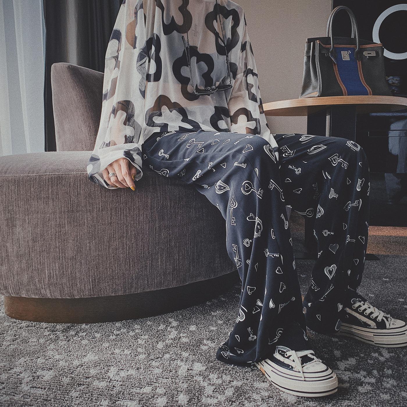 胖妹妹秋2019新款大码女装女阔腿裤10-21新券