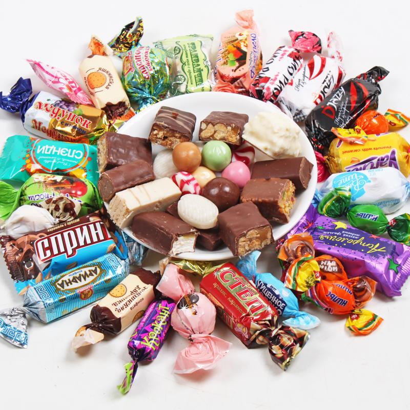 俄罗斯糖果紫皮散装混合巧克力威化婚庆水果喜糖零食品500g包邮