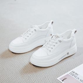 内增高真皮小白鞋2020夏季新款女鞋