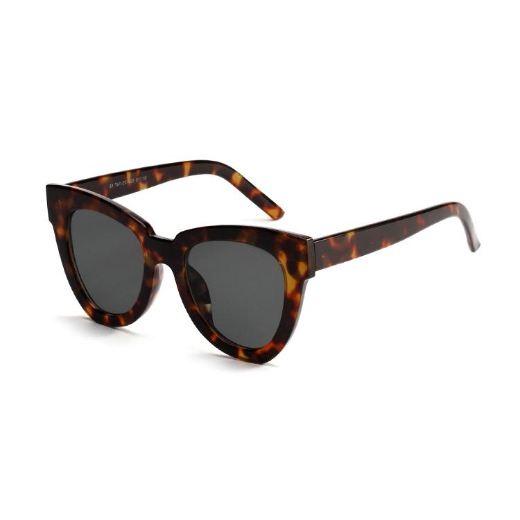 Retro large frame leopard hawksbill butterfly cats eye sunglasses sunglasses for women