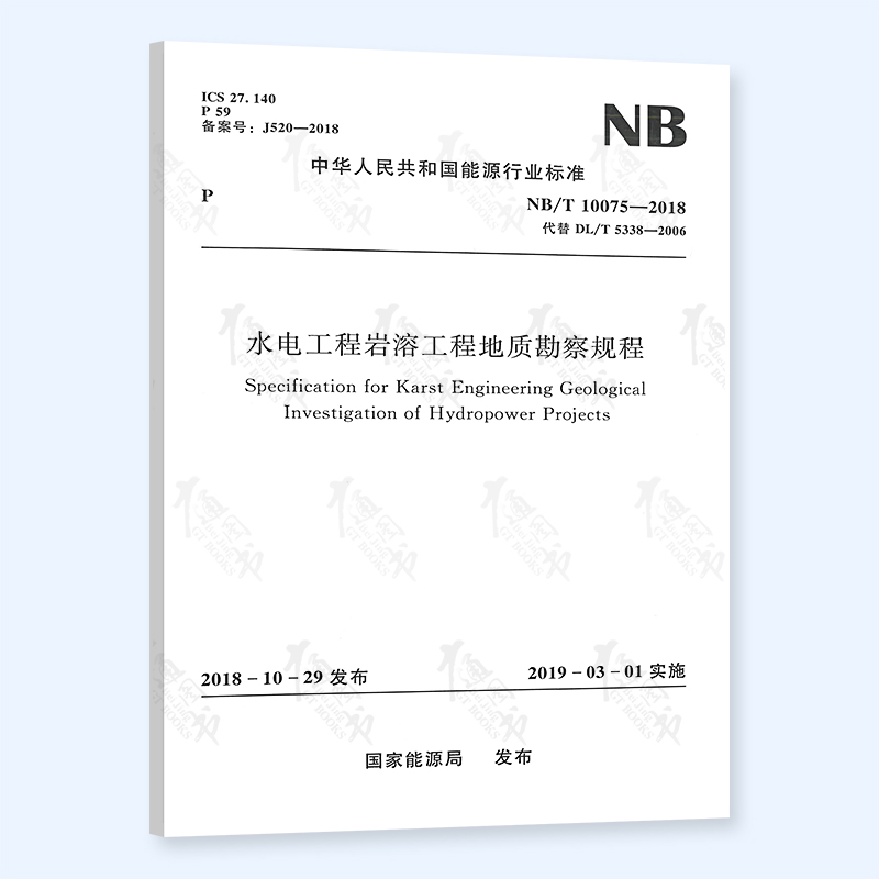 正版现货nb/t 10075-2018