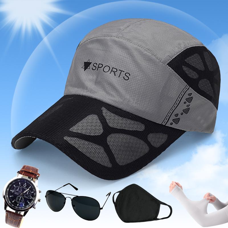 帽子男士夏季户外速干帽男女透气棒球帽运动遮阳网眼太阳帽图片