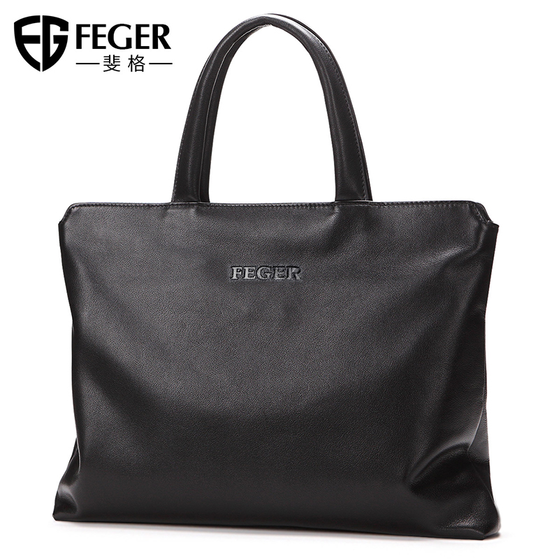 Feige handbag men's hand leather casual bag simple soft leather bag office bag business briefcase men's bag