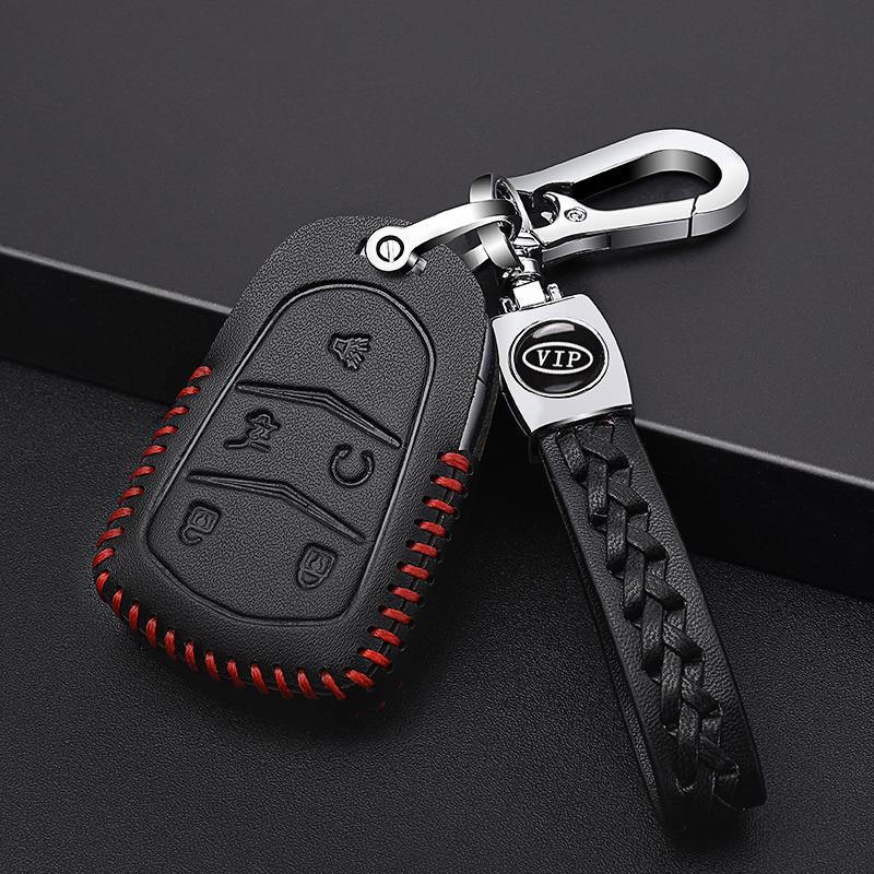 凯迪拉克汽车真皮钥匙包XT5 XT4 ATS-L CTS XTS SRX钥匙套专12-08新券