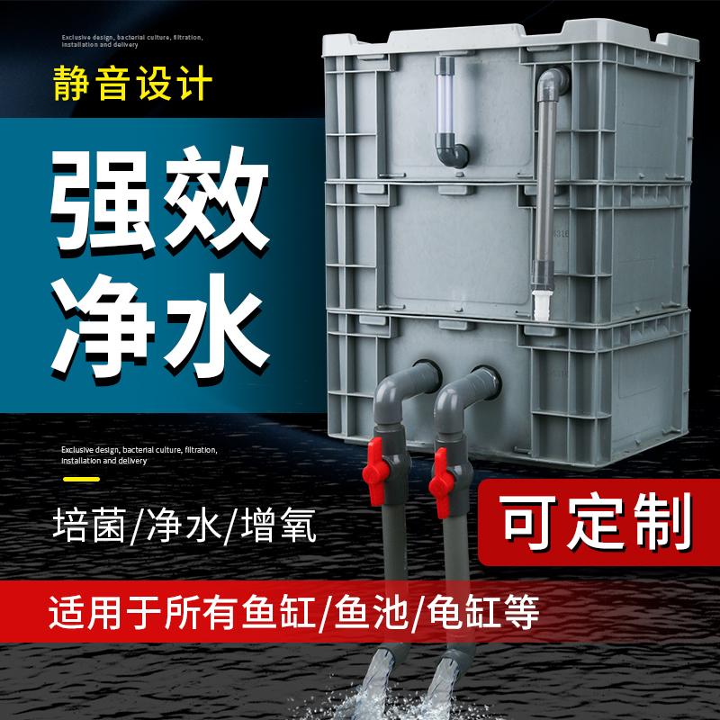 周转箱鱼池水循环系统过滤器过滤箱