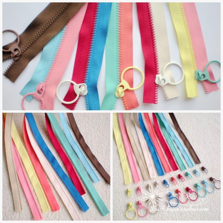 No.3 resin single side code zipper, hand-made DIY bag color matching color contrast two-color zipper dozens of spelling