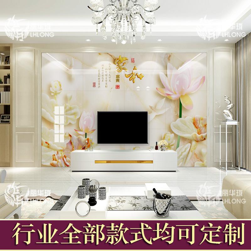 客厅电视背景墙瓷砖 3D立体简约现代墙砖 大理石罗马柱装饰微晶石