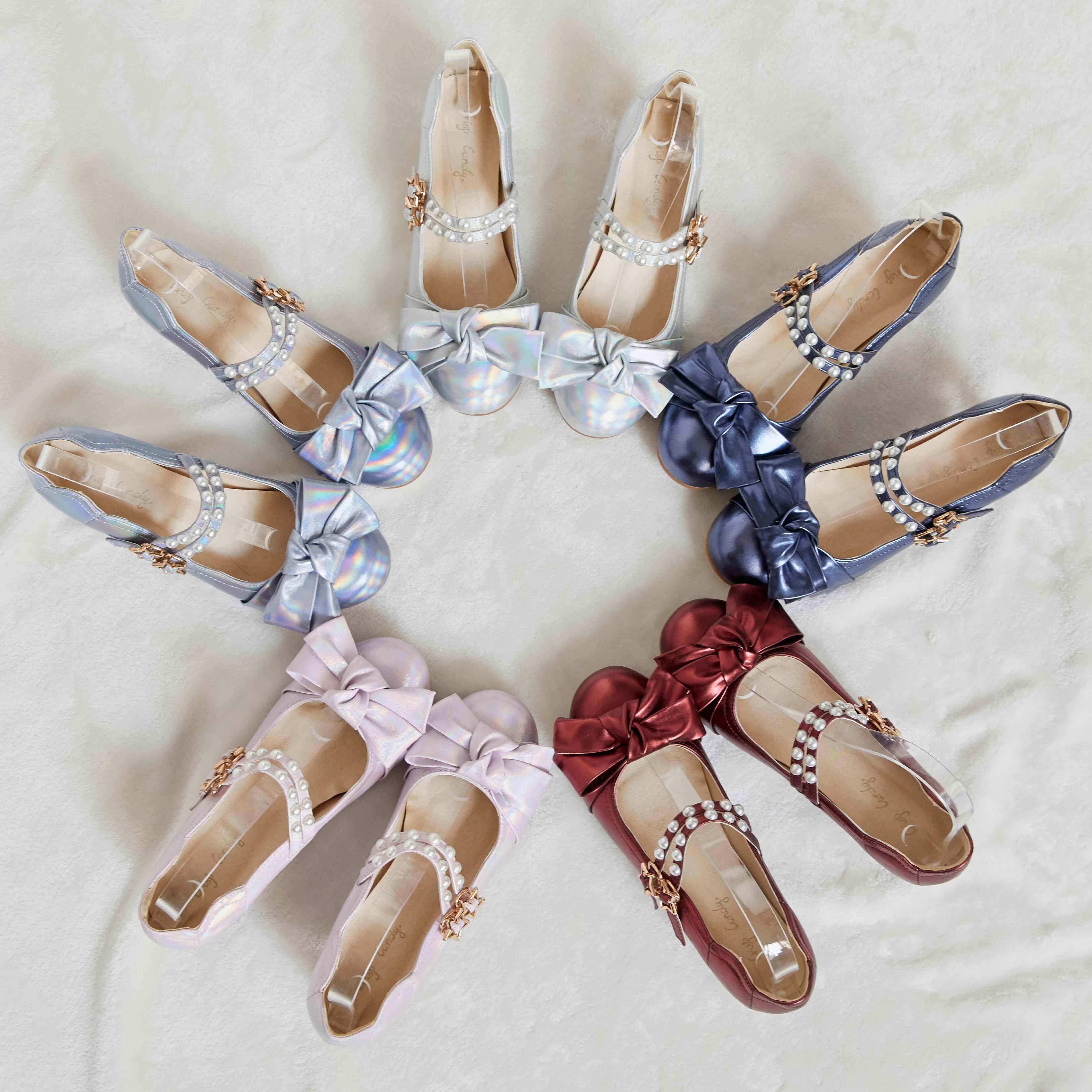 [C.C] [deposit] original Venus gemstone 2.0 sweet Lolita laser pearlescent women's shoes