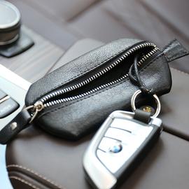 日韩复古多功能手工牛皮钥匙包简约男女士通用汽车钥匙卡包零钱包