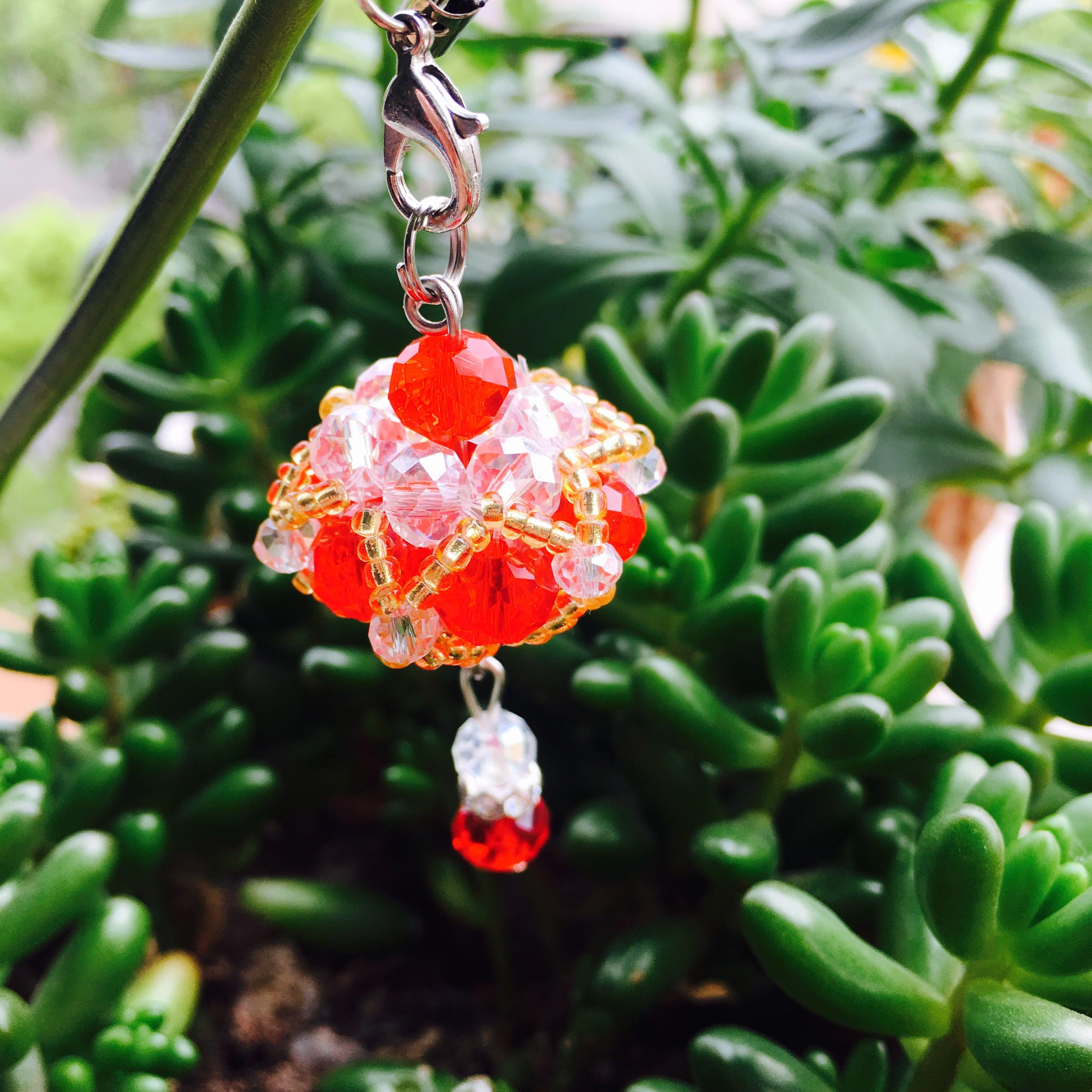 水晶 diy手工串珠包包小飾品 宮燈 掛件珠子編織鑰匙掛飾手工藝品