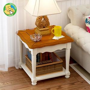 地中海方几沙发边几角几美式乡村客厅电话几实木小户型储物茶几