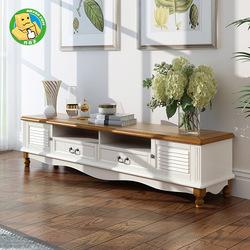 美式乡村风格电视柜茶几组合地中海实木家具全套客厅小户型地柜