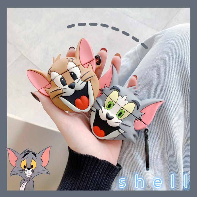 卡通猫和老鼠Airpods苹果耳机保护套airpods2代可爱硅胶套