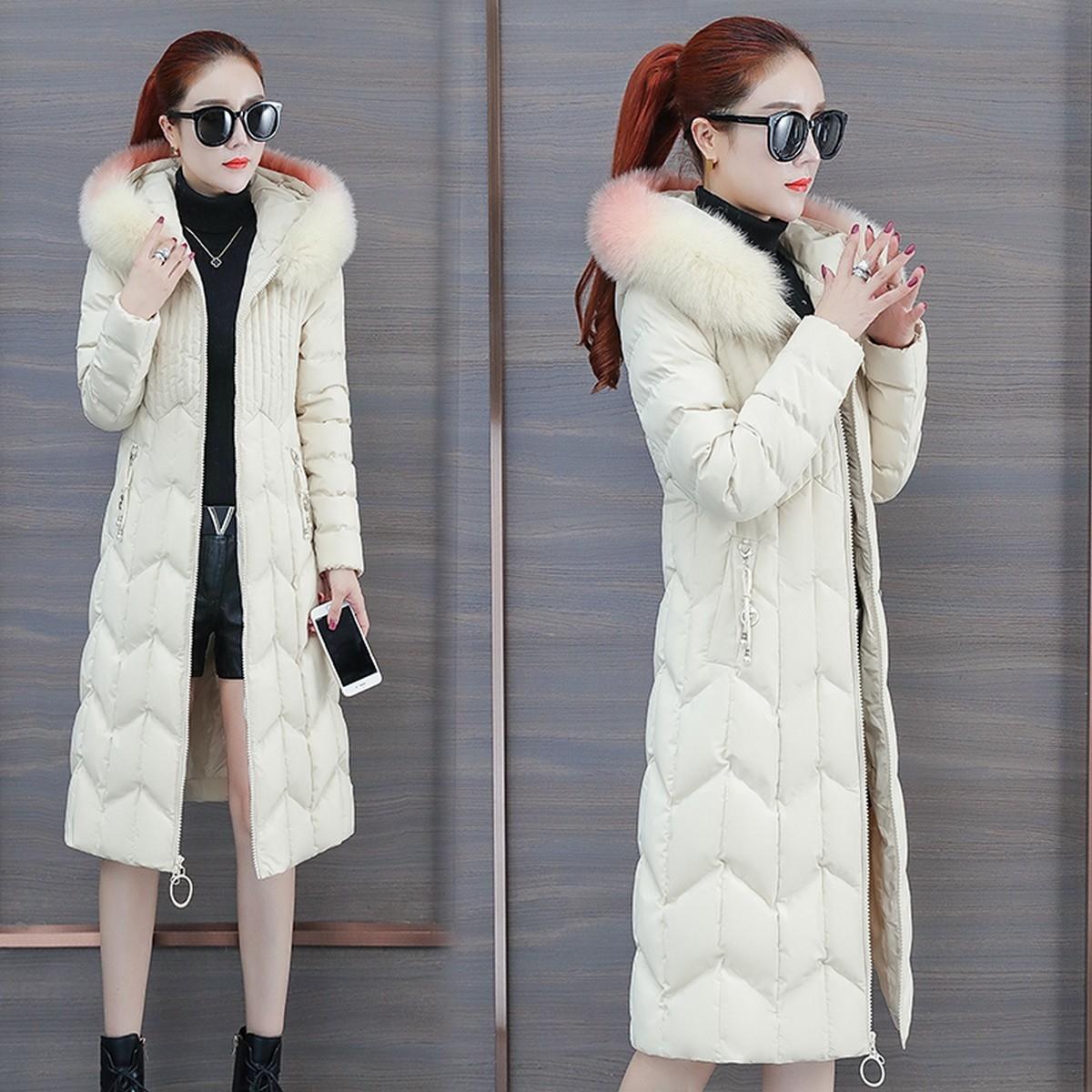 棉衣羽绒棉服棉袄2020年新款女冬季韩版宽松中长款2019派克服外套