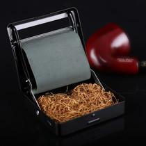 烟丝盒手卷烟不带烟纸海绵头烟嘴卷烟器半自动手动卷烟机卷烟盒