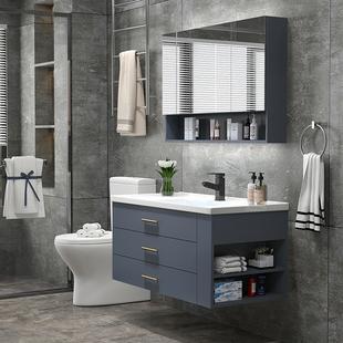 北欧轻奢浴室柜组合现代简约洗手盆柜洗脸盆柜卫生间洗漱台卫浴柜