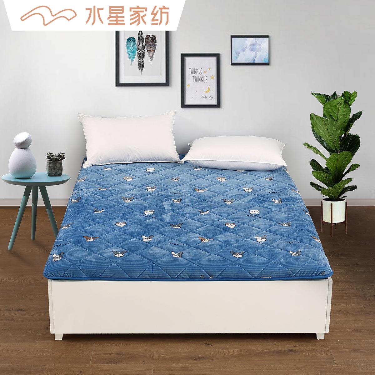 水星家纺软垫榻榻米保护垫子床垫12月01日最新优惠