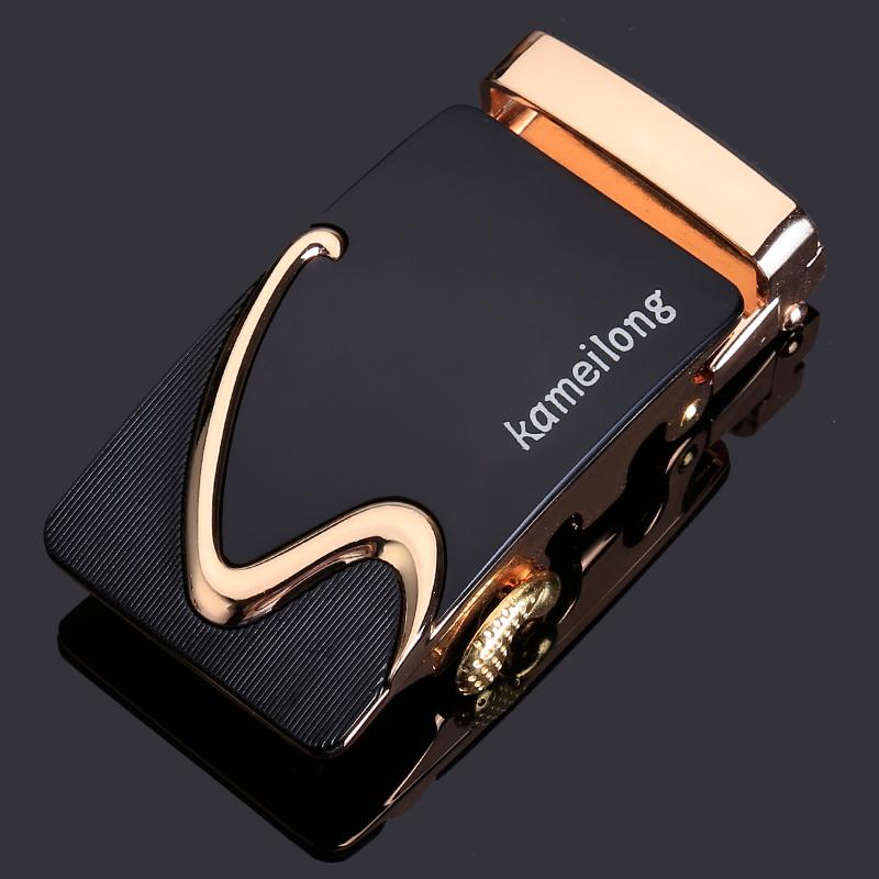 自动扣皮带头男士卡头配件夹子合金腰带卡扣3.5cm扣头有牙无孔