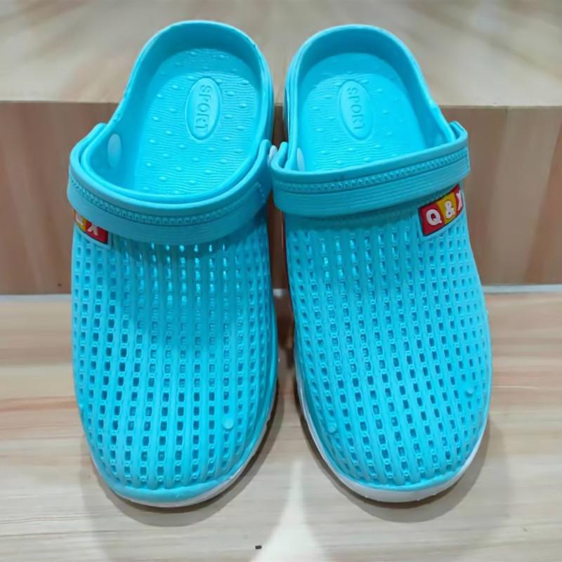 2021洞洞鞋女新款夏季拖鞋轻便底防滑软底潮流情侣包头凉鞋沙滩鞋