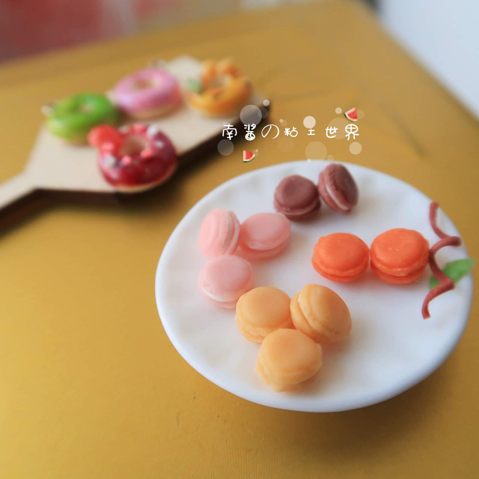Miniature food and game hand made macarone ob11 Mini scene 12 points 6 points doll house accessories BJD