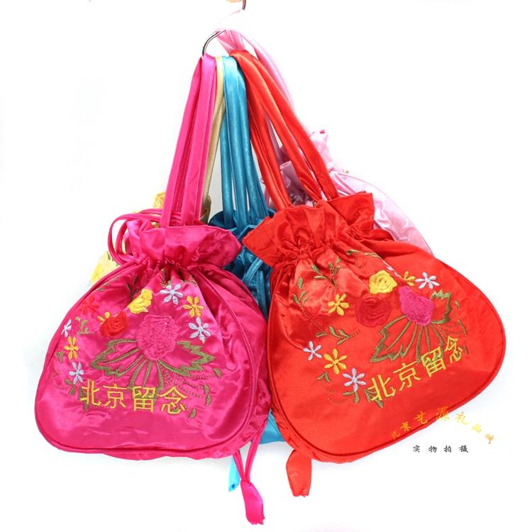 北京留念锦缎手腕包零钱包送老外小礼物北京特色纪念品出国礼品