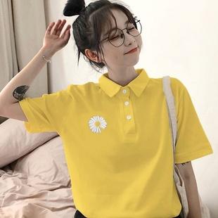 纯棉短袖小雏菊2020夏季韩版t恤