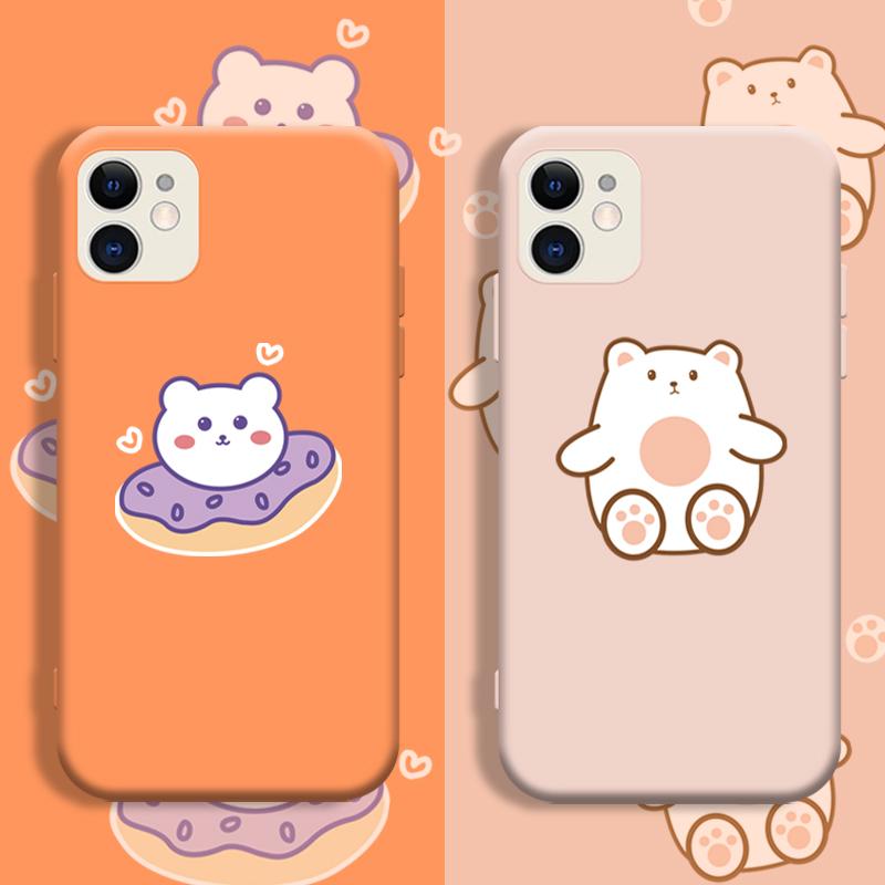 タオバオ仕入れ代行-ibuy99 iphone iPhone12苹果11手机壳XS可爱液态硅胶软壳XR防摔保护套男女款
