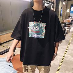 2019夏季男士T恤卡通印花簡約短袖體恤衫 B213-6765-P38控49
