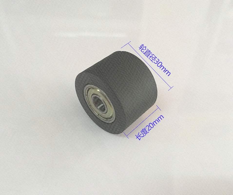 加宽包胶轴承滑轮626聚氨酯滚轮30*20压轮输送带导向轮耐磨双轴承