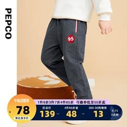 小猪班纳童装2021秋季新款儿童单长裤休闲裤中大童男童运动裤裤子