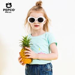 小猪班纳童装女童短袖t恤2019夏装新款中大童卡通上衣儿童体恤潮