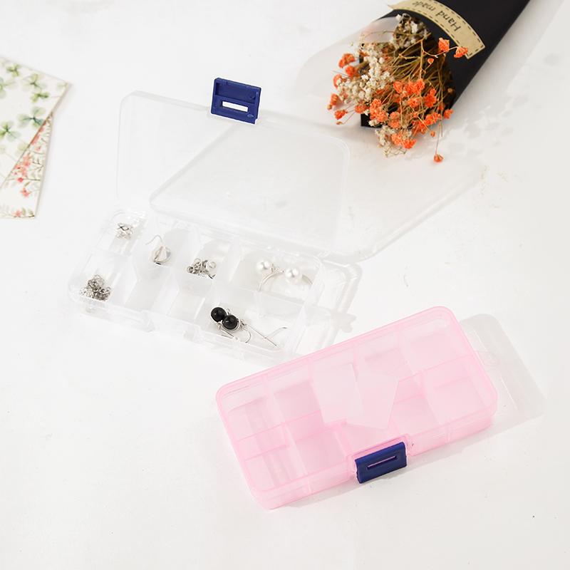 �品收�{盒塑料透明便�y首�盒耳�耳�h戒指手���分��ξ锖凶�