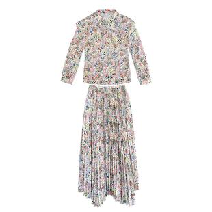 早秋套裝裙2020年秋季碎花套裝兩件套 洋氣名媛女神氣質女裝夏季