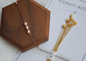 做一个温柔女子   天然珍珠超细五彩绳气质手链脚链闺蜜女友礼物