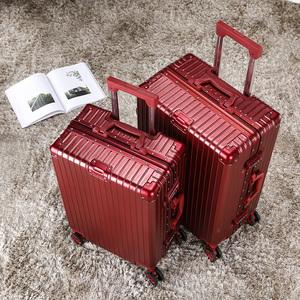 皮箱拉杆箱女新娘结婚陪嫁箱红色行李箱婚庆嫁妆密码箱登机旅行箱