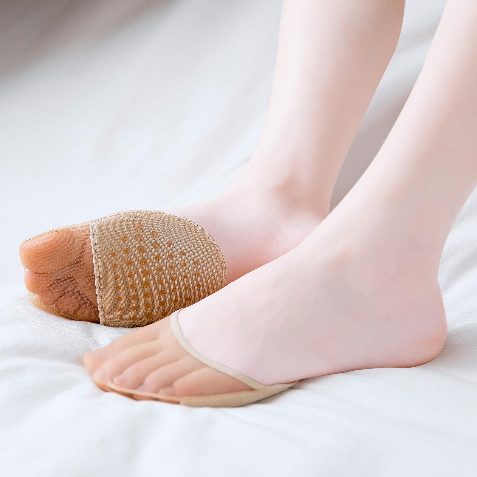 半拖鞋袜子凉鞋高跟鞋女袜前脚掌袜半掌袜全隐形薄款半截防痛减压