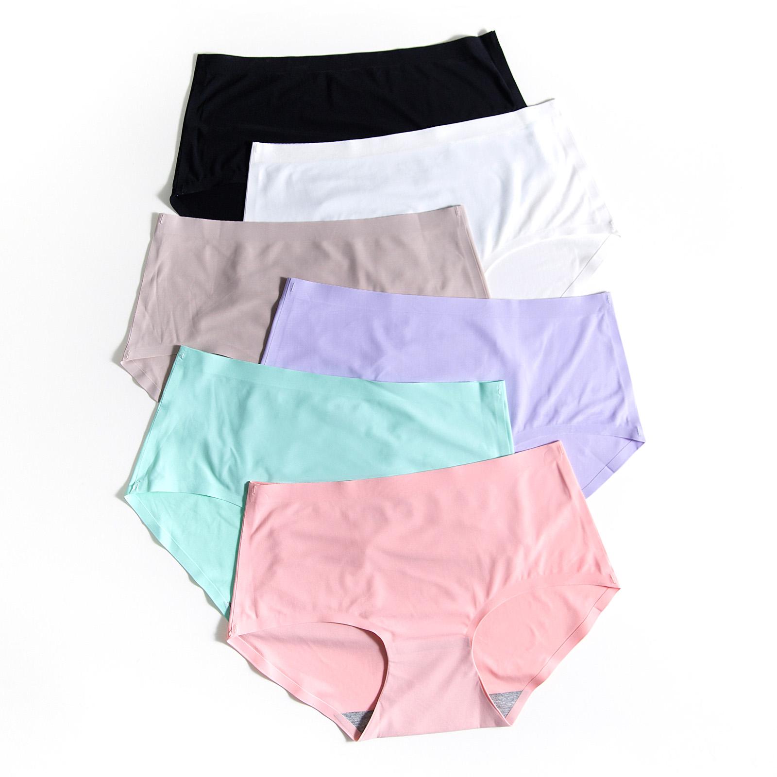(用5元券)内裤少女士冰丝款无痕一片式夏季超薄款透气可爱中腰夏天抗菌平角