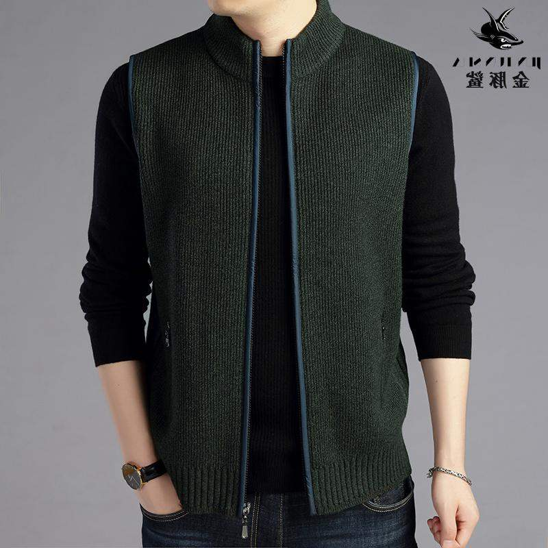 Group purchase brand mens Knitted Vest Jacket mens Jacket Vest knitted waistcoat