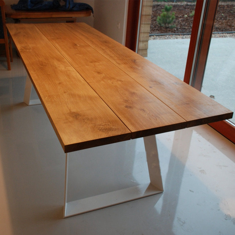 【木梵】北欧工业风餐桌 实木办公桌长方形会议桌 复古餐桌椅包邮