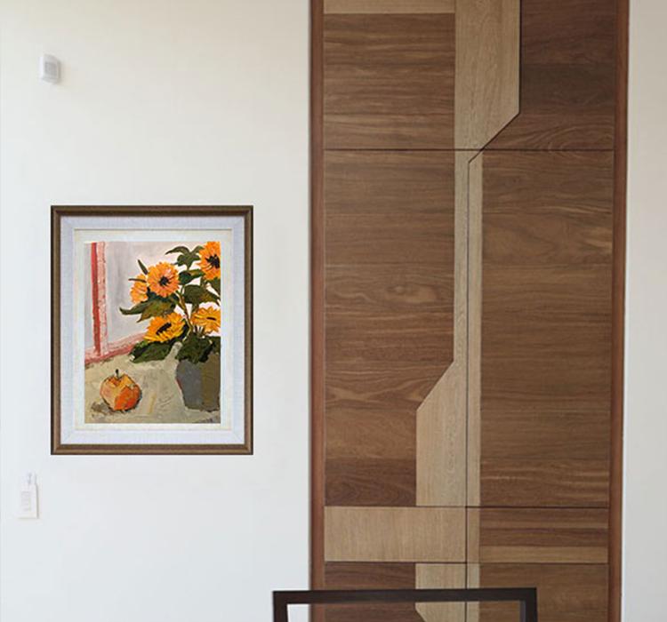油畫單幅孤品含畫純手繪30X40CM框