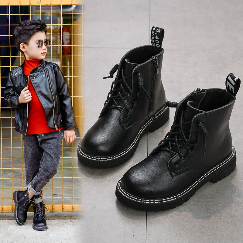 男童2021新款秋冬季女童鞋马丁靴