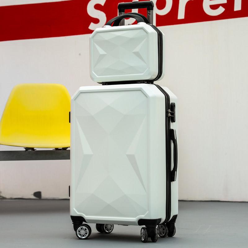 【旅行箱】网红子母拉杆密码箱行李箱女学生登机铝框箱男韩版