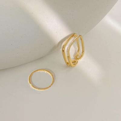 戒指女可调节男女饰品个性新款设计感指环精致装饰素女子活扣时尚