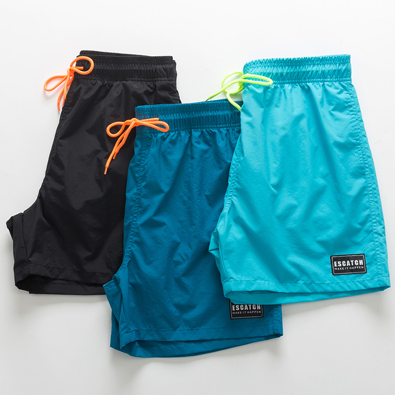 Beach pants men's quick drying can be launched loose large size seaside holiday shorts fashion men's anti embarrassment hot spring swimming pants