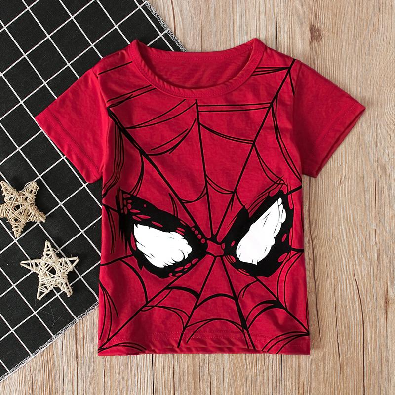 2020儿童夏季新款男童卡通短袖蜘蛛侠图案T恤上衣童装ins