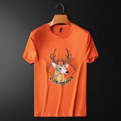 D316-9861-P80  2021夏季新款双丝光棉短袖t恤 桔 平铺 控价128