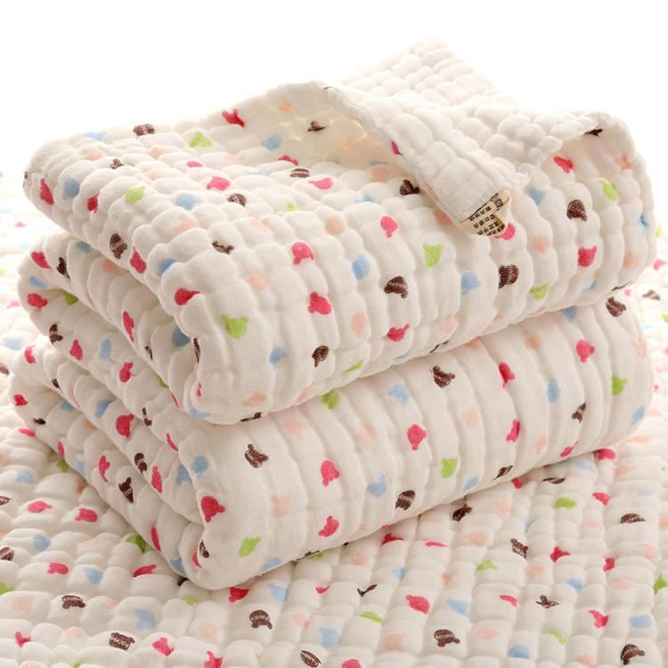 Новорожденных ребенок полотенце хлопок шесть 12 слой марли абсорбент больше и толще ребенок купаться осень и зима крышка находятся