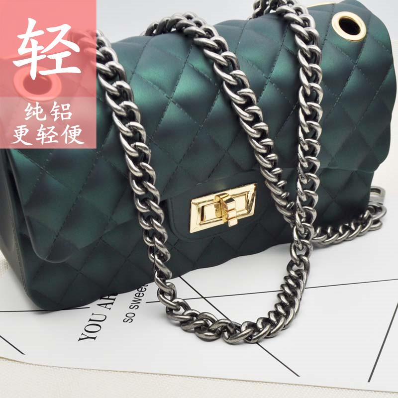 包包配件链条高档不褪色可拆卸粗链子单肩斜跨包带单买百搭金属链