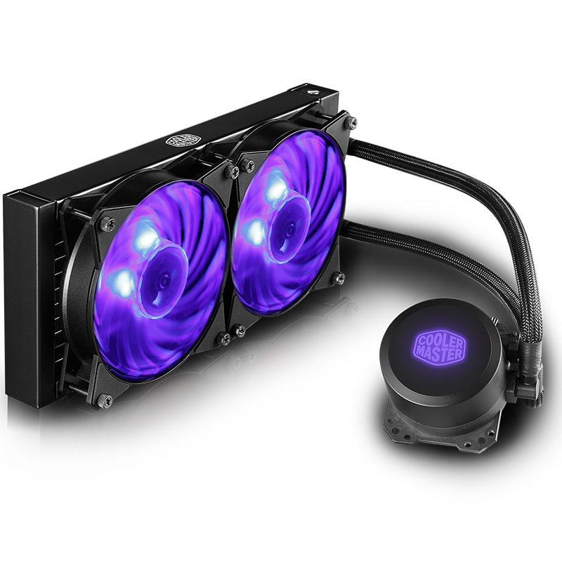 酷冷至尊冰神b240argb版 A RGB幻彩水冷 一体式水冷CPU散热器风扇