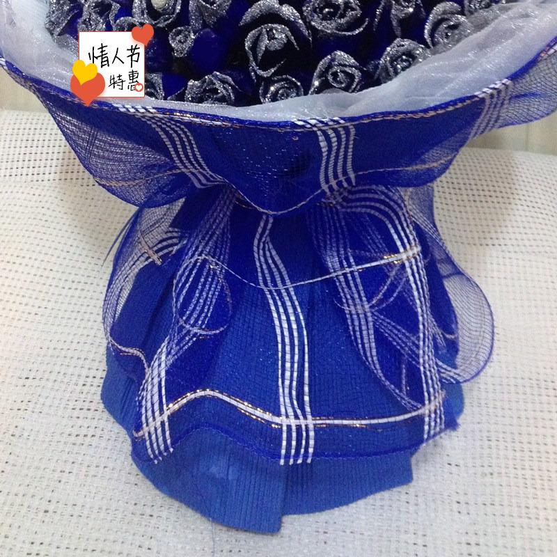 99朵蓝色妖姬蓝玫瑰花束北京上海芜湖鲜花速递杭州重庆生日送花店